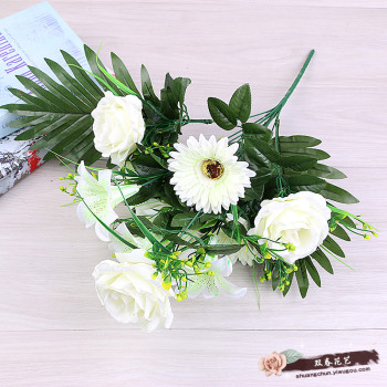 Artificial flower bouquets of flowers are decorated with flowers and flowers