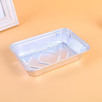 厂家直销 铝箔容器餐盒铝箔碗 210*140*46mm