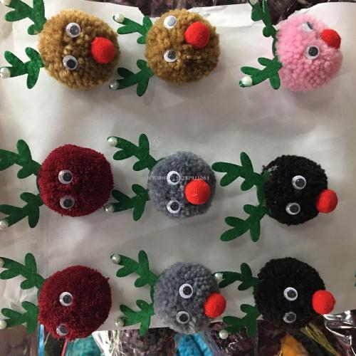 Dear xiaolu mickey foreign trade Christmas diy cashmere hair accessories