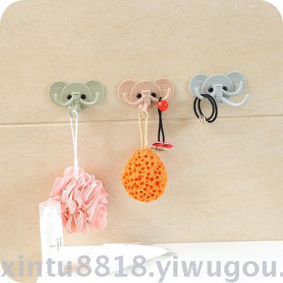 Lovely elephant wall hangs sticky hook kitchen bathroom to avoid nail door hind hook to use strong adhesive without mark