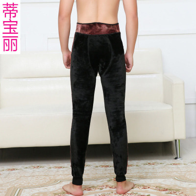 600g men's body warm trousers, autumn and winter, with high waists and high-waisted waist, high-waisted