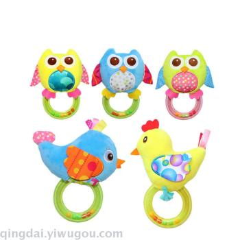 Plush baby toy baby puzzle Ring rattle