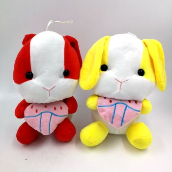 The factory direct ten yuan fine plush toys to sit the rabbit doll girl gifts small bunny doll wholesale