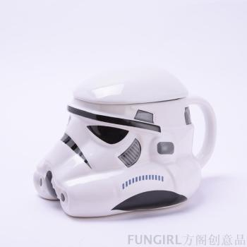 Star Wars 3D ceramic mug cup of black and white knight