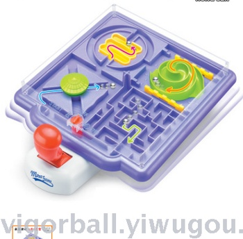 Puzzle game maze 4-1 new and unusual creative hand - handle marbles in the maze of children's board games