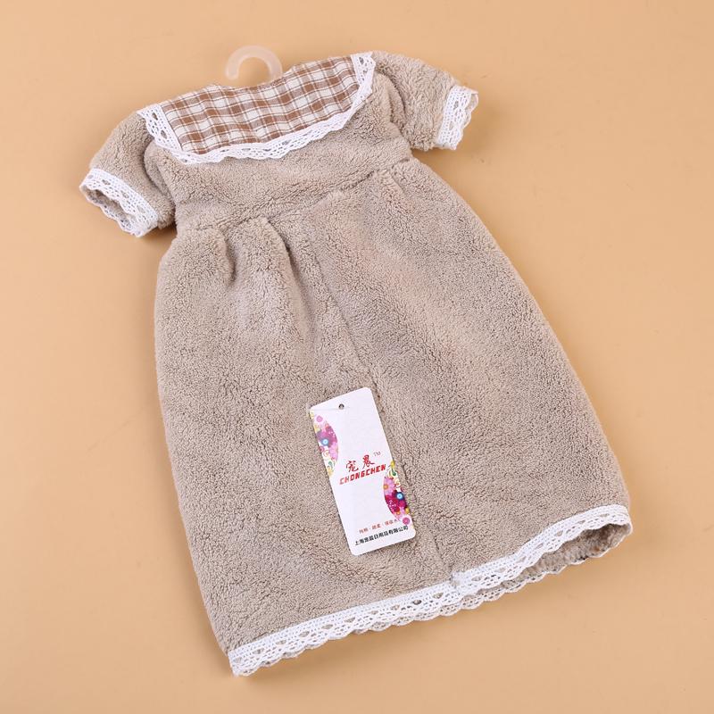 可爱公主裙擦手巾 挂式儿童毛巾 厨房抹布卫生间手帕