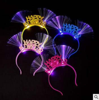 The factory wholesales the NEW YEAR hoops | fiber hairpin |HAPPY NEW YEAR hair decoration | hot sell toys