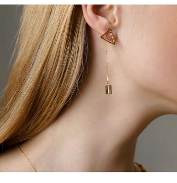 geometry earrings  a triangular design