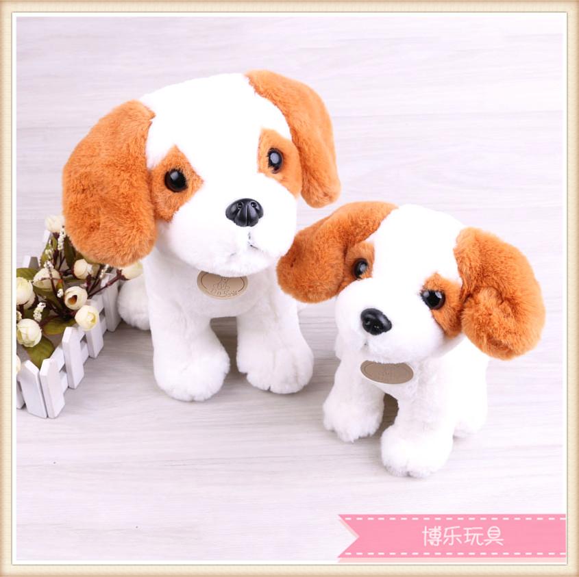 可爱小狗精品摆件创意毛绒玩具摆件狗狗毛绒玩具
