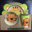 Bamboo Fiber Kids Tableware Children 5pcs/set