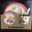 Bamboo Baby Dishes Bowl Cup Plates Sets 5pc/set