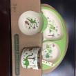 5 Pcs/Set Bamboo Fiber Children Tableware for children baby Dishes Dinnerware Set Feeding Bowl Dishes