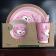 5pcs/set Baby Feeding Dishes Set Bowl Grid Plate BPA Free