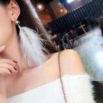 fairy hair earrings by pearl - tassel water diamond  earrings