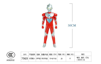 The new joint can change the original version of the ultraman model to summon the children's plastic toys