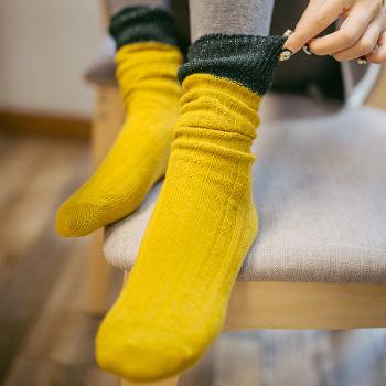 Bright silk character socks splicing gold and silver silk fashionable breathable medium - piled stockings socks