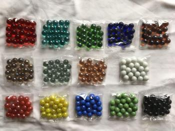 20pcs 15-16mm colored glass ball marbles with 16mm size marbles