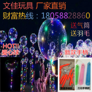 The new joystick light wave ball is sold in the red balloon LED transparent cartoon love balloon.