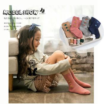 Children's baby socks all cotton lovely middle socks simple wind autumn/winter socks wholesale