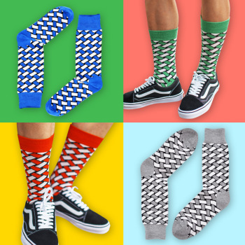Collision color men's movement pure cotton socks European and American BBB 0 in the same style of stockings