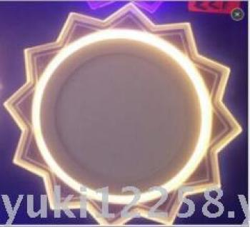 Ed tube lamp panel light two-color section pentagram panel lamp 3W6W12W18W ultra-thin die cast acrylic surface