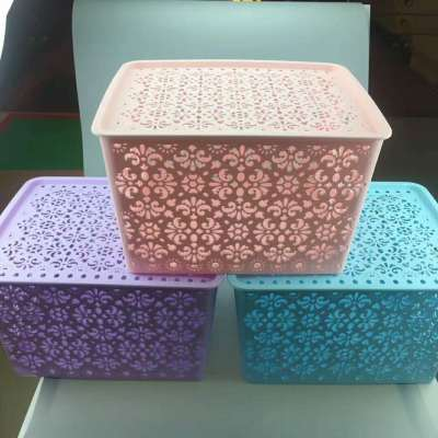 Creative hollow-out desktop underwear box drawer plastic packing box for the use of covered bras