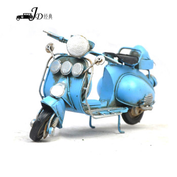 Metal art crafts imitation ancient sheep pedal motorcycle model home soft decoration gift collection