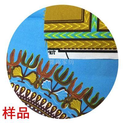 Retail sample African batik cloth polyester garment fabric curtain fabric