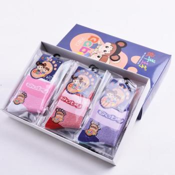 Winter style children's stripes thicken cotton anti - odor socks manufacturers direct cotton socks