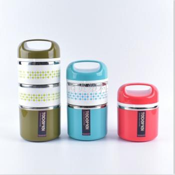 Yuen yuen plastic Japanese insulated lunch box stainless steel hand - type insulated lunch box