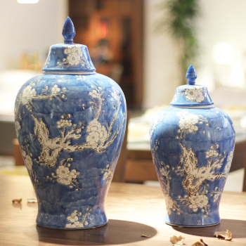 Pottery and porcelain receptin can be decorated with Chinese handicraft decoration can be decorated with a large size.