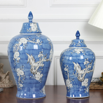 Ceramic receptacle can be decorated with Chinese handicraft decoration can embossed and decorated with small size.