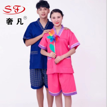 High - grade perspiration suit women's pure cotton sauna clothing safety nano cotton men's bath clothes