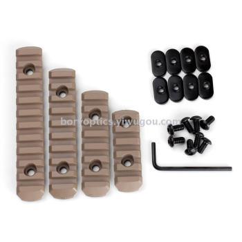 4PCS/Set  Polymer 20mm Picatinny Weaver Rail Section Set For MOE HandGuard M-Lok Polymer Rail Section MOE Hand Picatinny