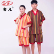 Pure cotton sweat steaming suit of men's and women's bathrobe bathing suit
