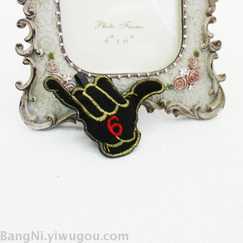 Creative hand-embroidered black hand shape multi-functional jewelry accessories accessories hot sell