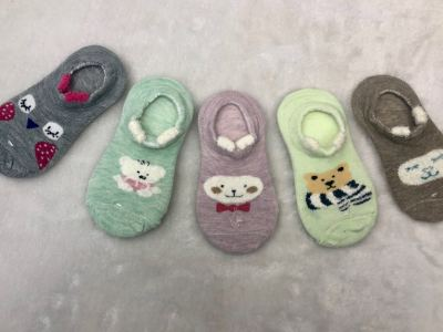Pure cotton stereoscopic children's cartoon socks animal headboat socks breathable comfortable, cheap socks