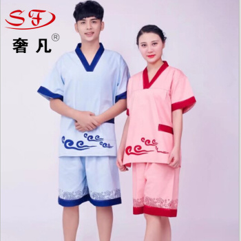Sauna and bathing suit sweated bath clothes