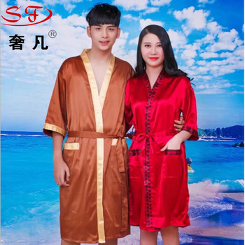 Sweat steaming suit men and women bathrobe lovers bathing suit cotton chun xia beauty salon sauna.