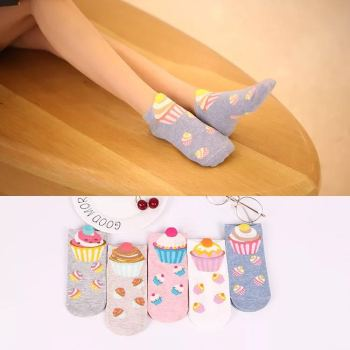 Socks small ear cartoon stockings cake women's socks and socks wholesale cotton socks new manufacturers direct sale.