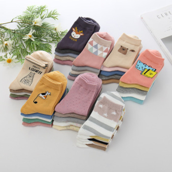 Autumn and winter new female socks han edition day line socks socks socks socks socks socks floor socks.