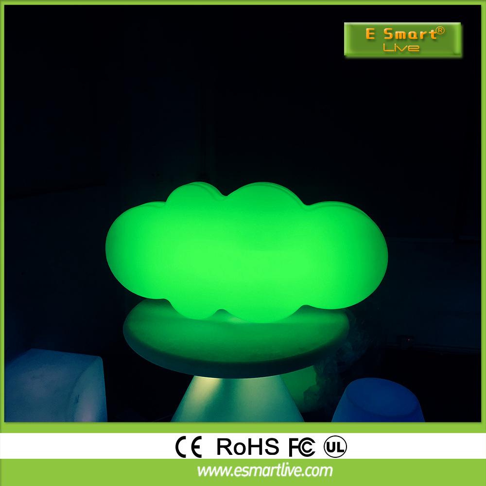 led七彩发光云朵灯可遥控充电ktv创意云朵形棉花灯台灯