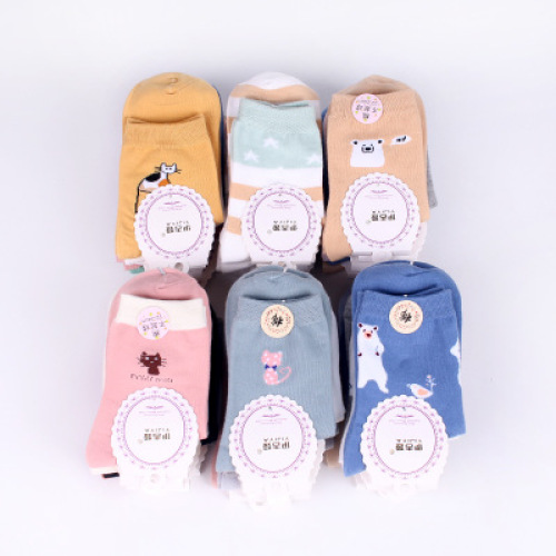 Autumn/winter lady cartoon socks cotton comfortable color animal socks cotton socks women's stockings.