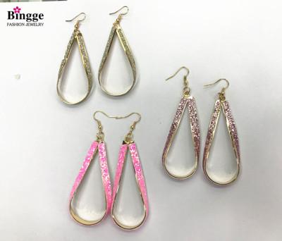 Many pairs of European and American fashion women's earrings yiwu bingge jewelry manufacturers direct sales.
