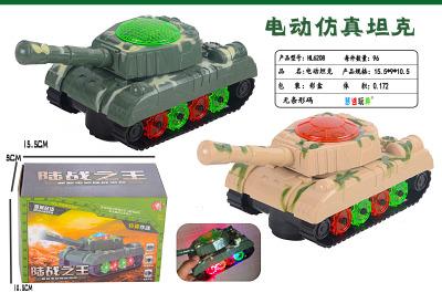 Electric universal band music light tank toy flash military model yizhi tank toys wholesale.