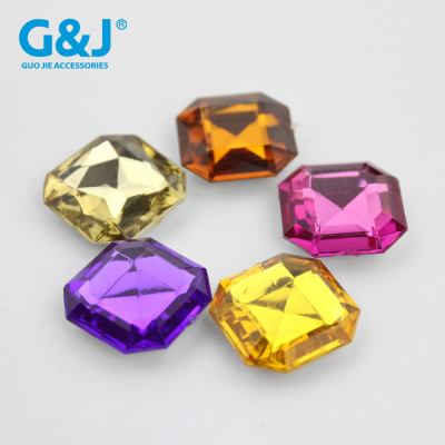 Imitation bench press the bottom 8 surface drilling DIY jewelry accessories wholesale octagonal square drill.