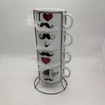 The new water cup set is a mug of coffee cup star creative cute personality household cup ceramics.