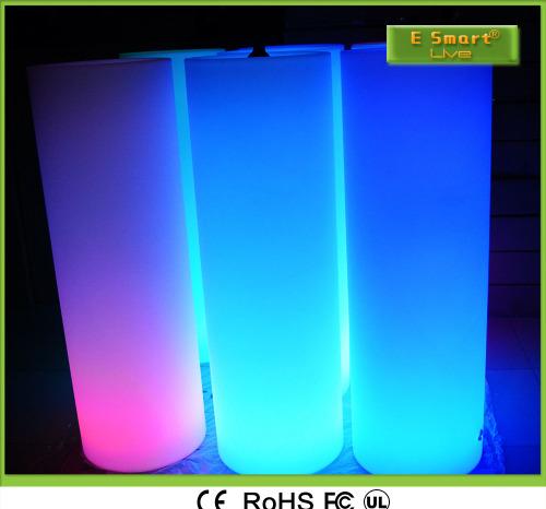 Luminous furniture bar decorated LED 7 color luminescent cylindrical lighting RGB ice bucket.