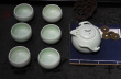 New black and white ceramic kiln in Jingdezhen Kung Fu tea gifts promotional gifts