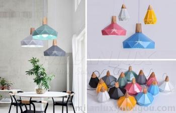 Spot contracted creative instrument office chandelier art bedroom restaurant retro chandelier lamp shade.